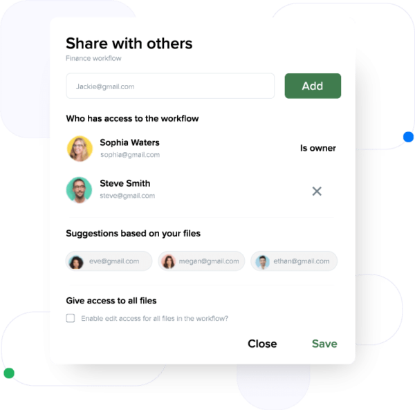 home-share-workflow-feature